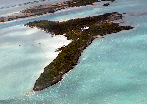 Little Deadmans Cay Island Aerial Shot